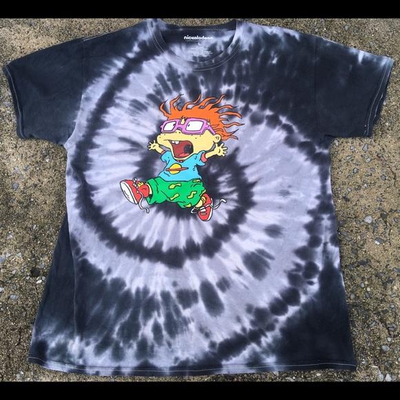 Nickelodeon Other - RUGRATS Chucky Tie Dye Tee Shirt Nickelodeon SZ L
